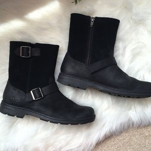 b4cf787d449 UGG Shoes | Mens Like New Black Messner Waterproof Boots | Poshmark
